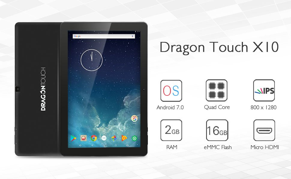 Dragon Touch X10 Review - Best Gaming Tablet under 200 Dollars!