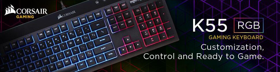 Corsair K55 Review - Best Gaming Keyboards under 50 Bucks!