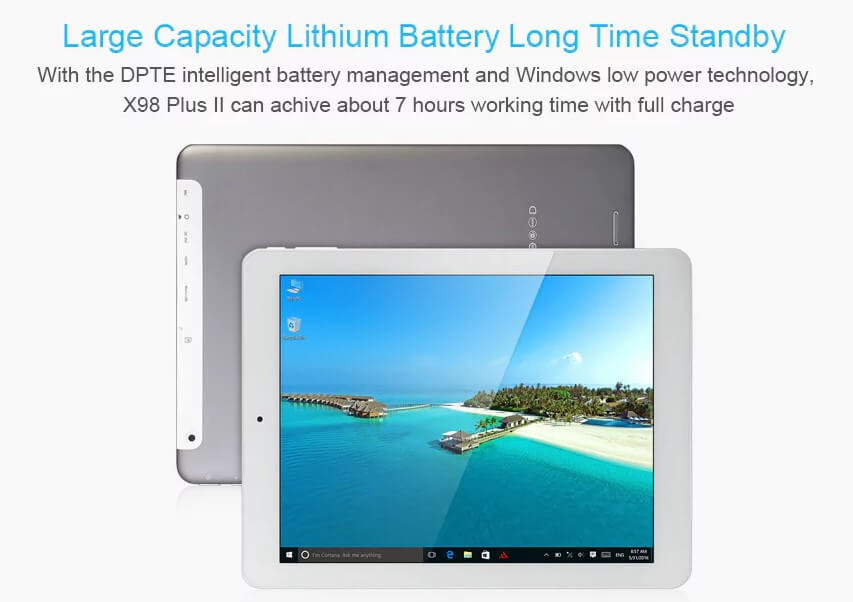 Teclast x98 Plus II Review - Battery