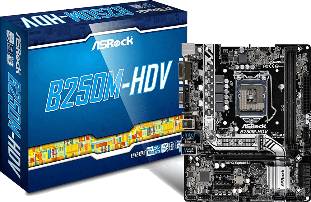 ASRock B250M-HDV Review - Cheap Motherboard for i7-7700k