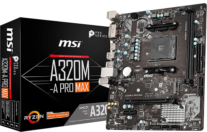 MSI A320M-A Pro Max Review - Cheapest Motherboard for Ryzen 3 2200g!
