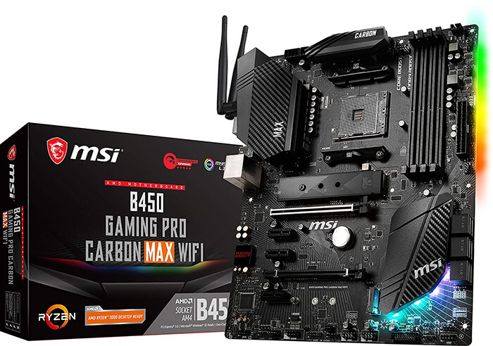 MSI B450 Gaming Pro Carbon Max Review - Cheapest Motherboard for Ryzen 7 3700x!