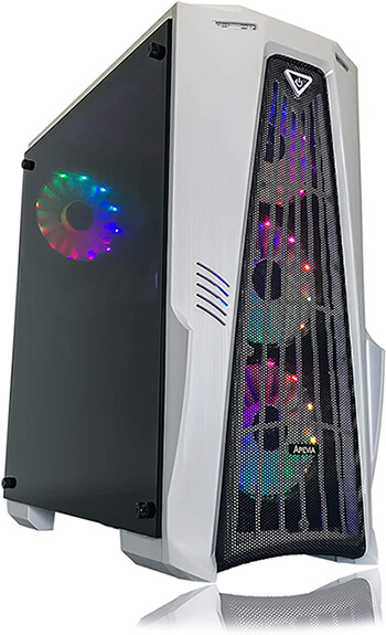 Gaming PC Desktop Computer White by Alarco - Best PreBuilt Gaming PC under $600!