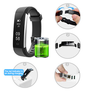 Battery Backup and Charging - Letsfit Fitness Tracker Battery Review